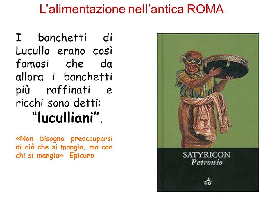 L'alimentazione nell'antica ROMA