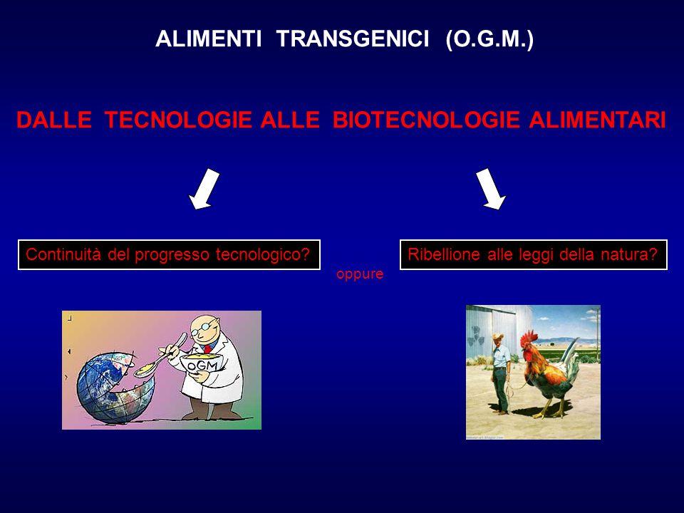 ALIMENTI TRANSGENICI (O.G.M.)