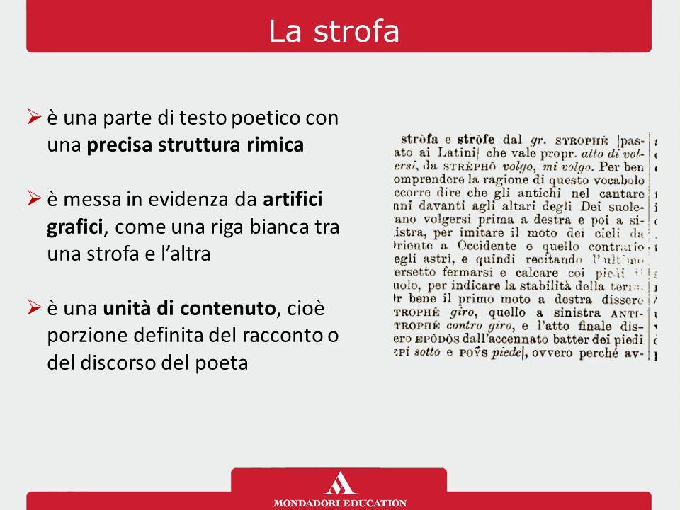 La strofa è una parte di testo poetico con una precisa struttura rimica.