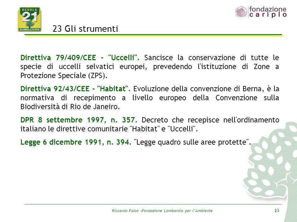 Riccardo Falco –Fondazione Lombardia per l'Ambiente