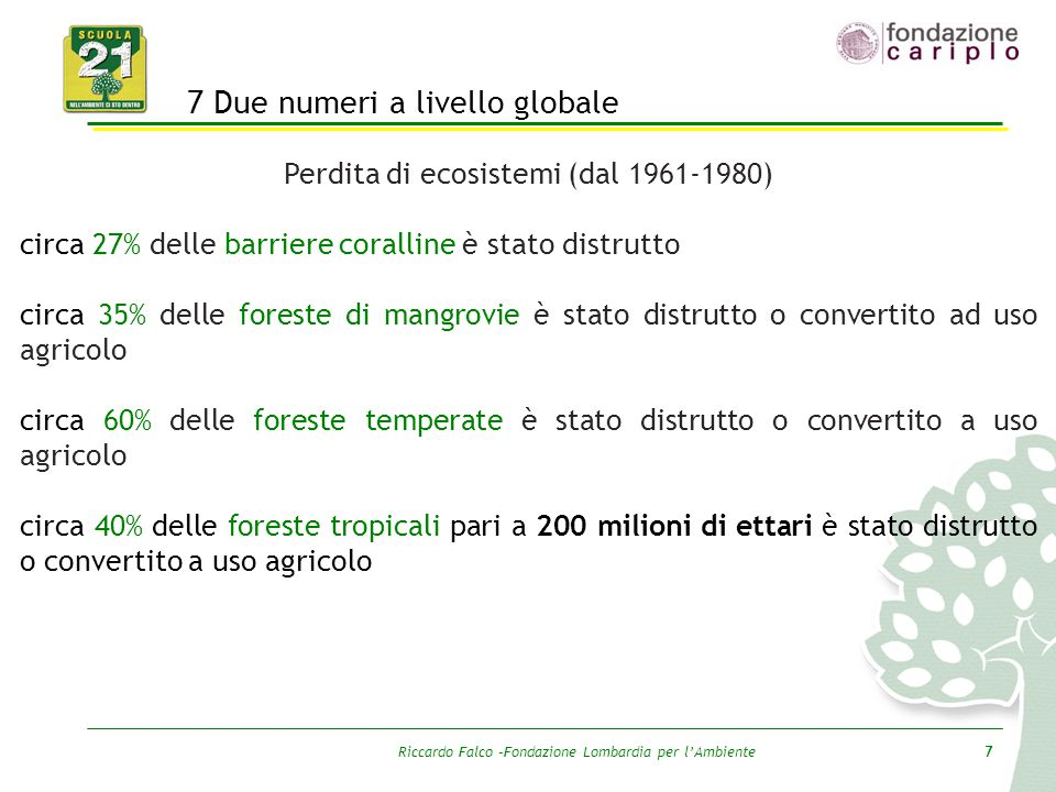 7 Due numeri a livello globale