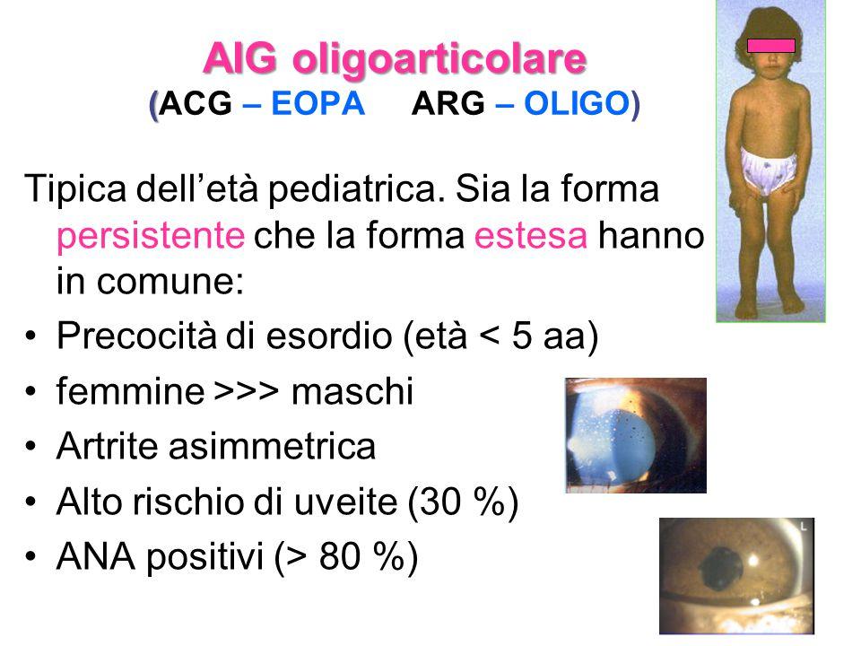 AIG oligoarticolare (ACG – EOPA ARG – OLIGO)