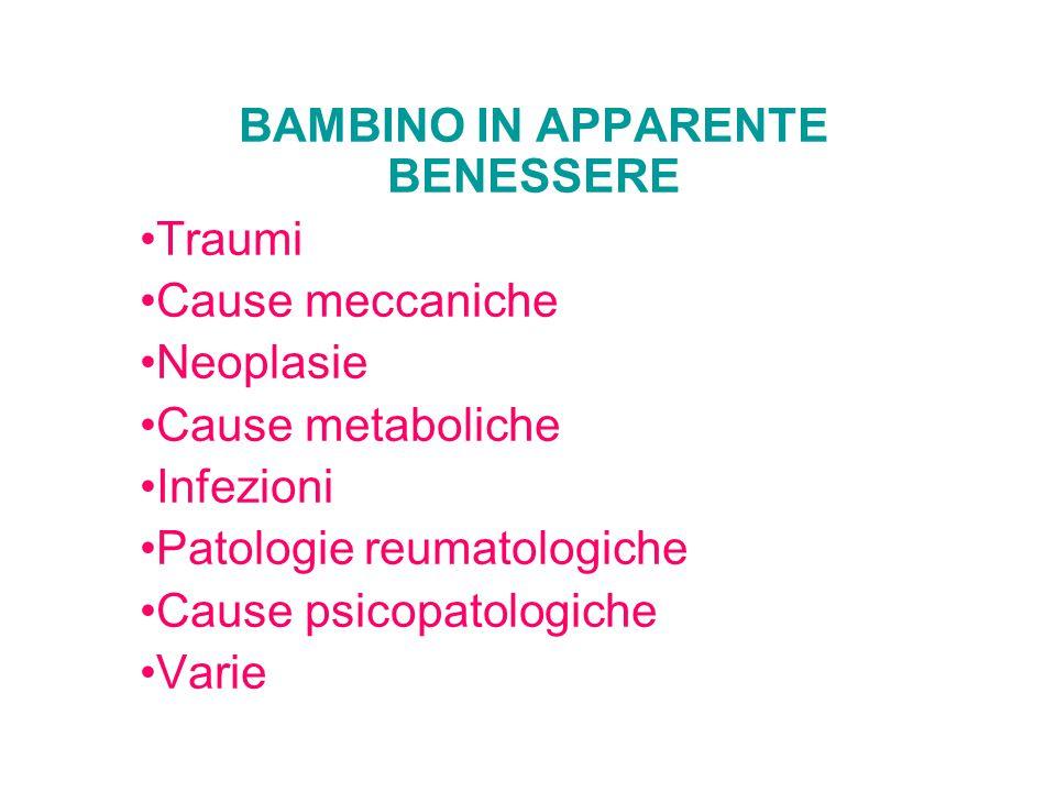 BAMBINO IN APPARENTE BENESSERE