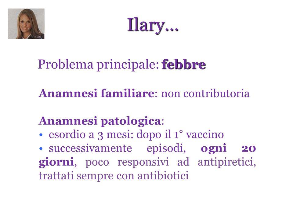 Ilary… Problema principale: febbre