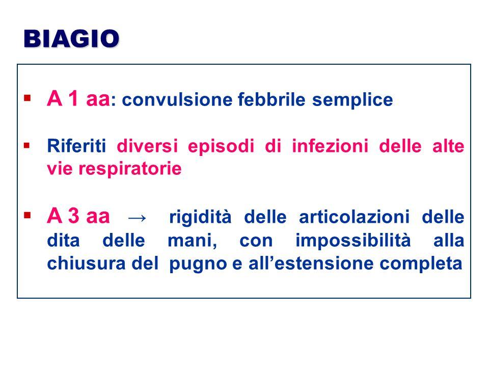 BIAGIO A 1 aa: convulsione febbrile semplice