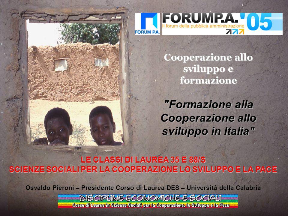 Formazione alla Cooperazione allo sviluppo in Italia