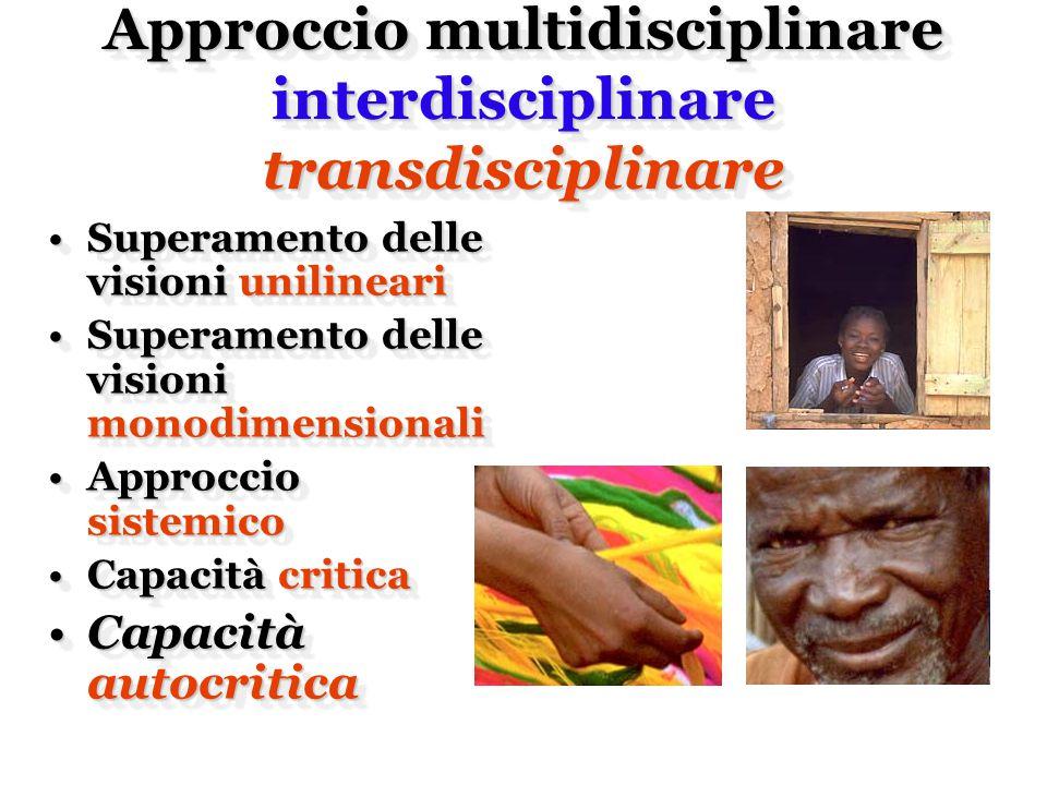 Approccio multidisciplinare interdisciplinare transdisciplinare