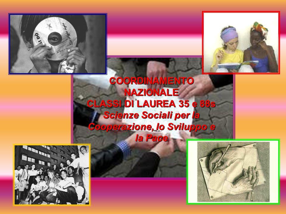 COORDINAMENTO NAZIONALE CLASSI DI LAUREA 35 e 88s