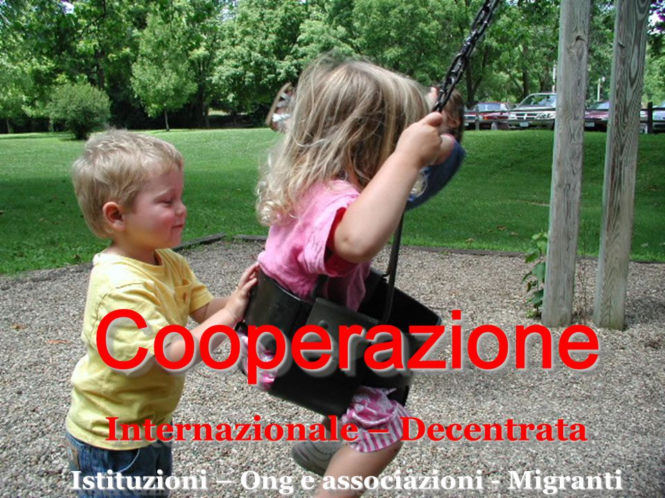 Cooperazione Internazionale – Decentrata