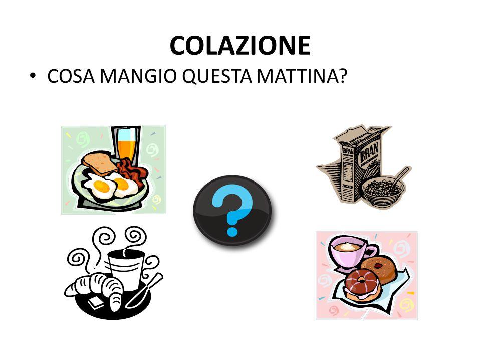 COLAZIONE COSA MANGIO QUESTA MATTINA