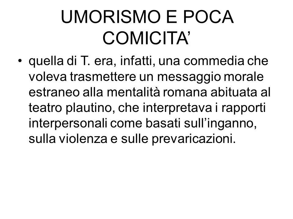 UMORISMO E POCA COMICITA'