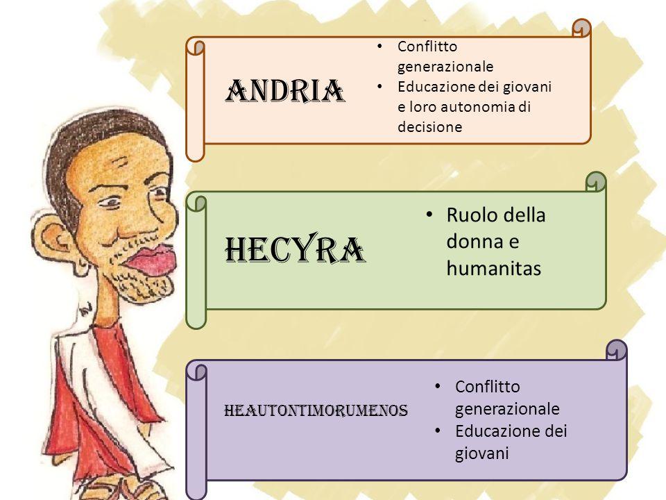 Hecyra ANDRIA Ruolo della donna e humanitas Conflitto generazionale