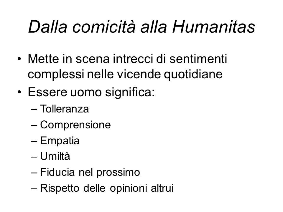 Dalla comicità alla Humanitas