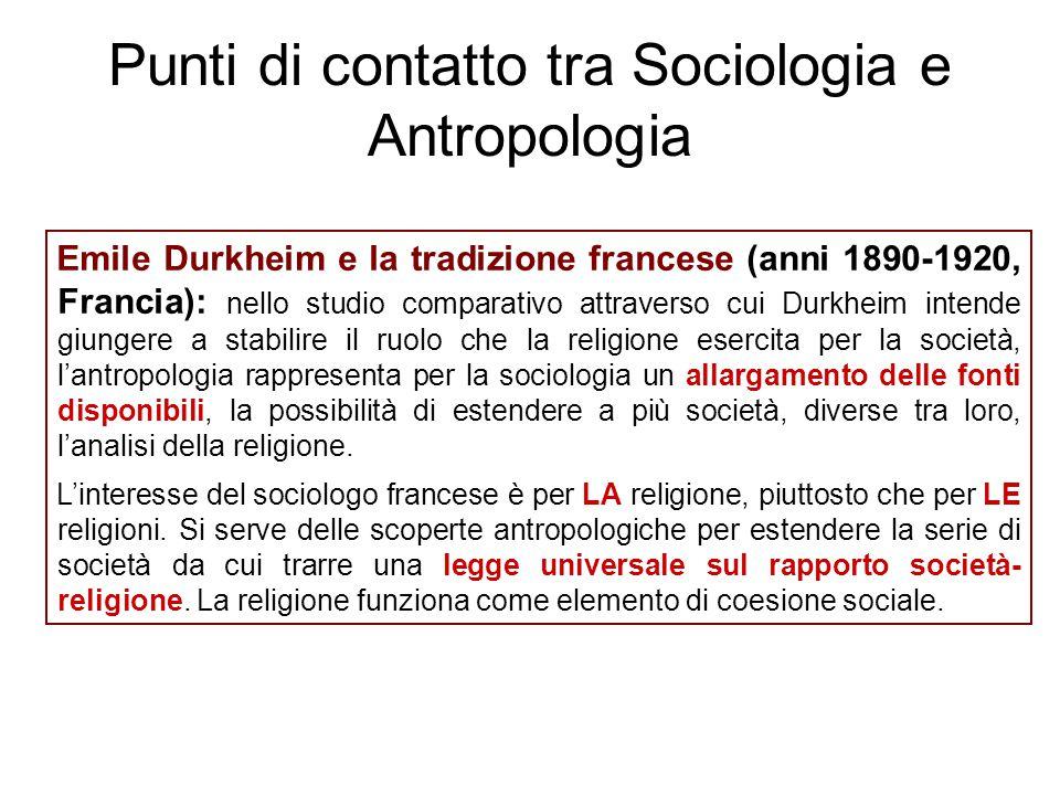 Punti di contatto tra Sociologia e Antropologia