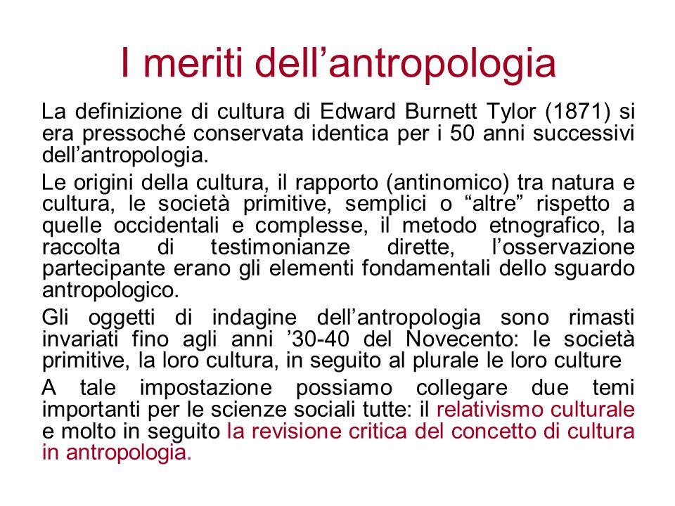 I meriti dell'antropologia