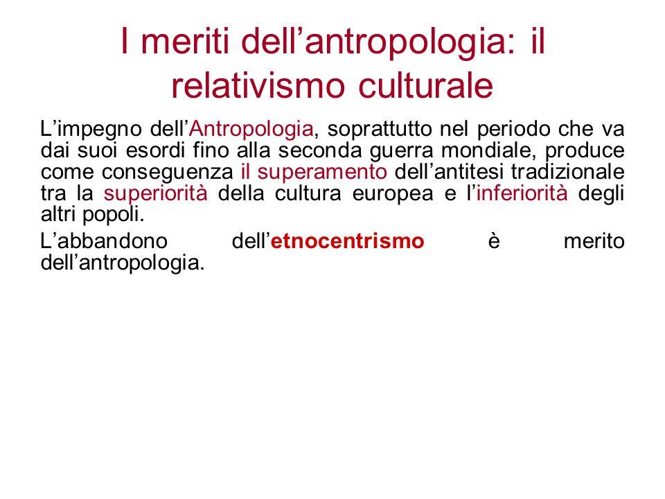 I meriti dell'antropologia: il relativismo culturale