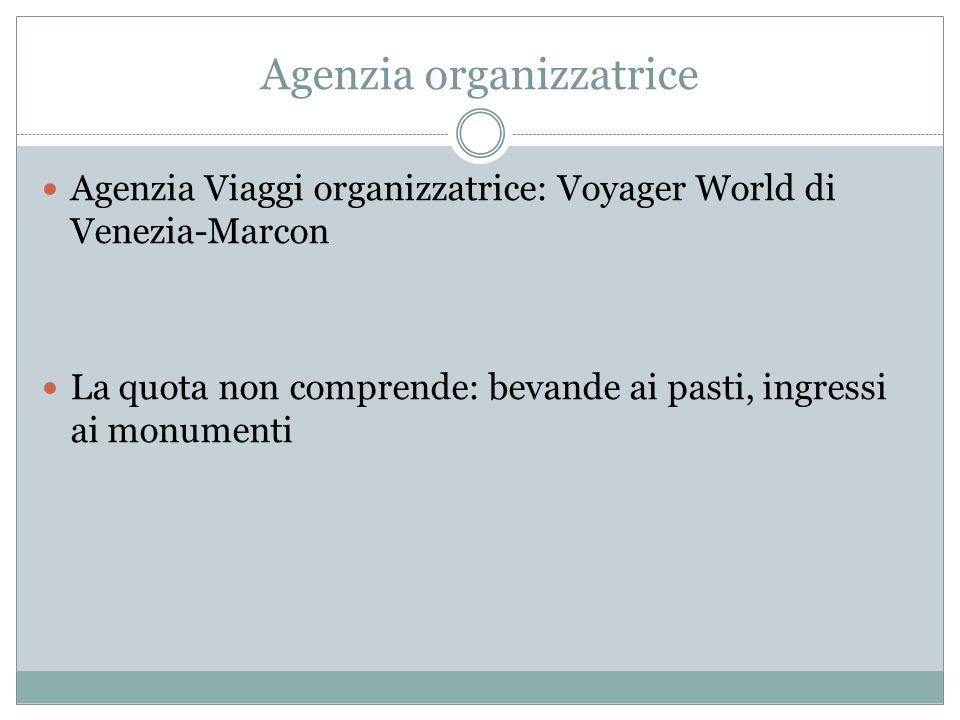 Agenzia organizzatrice