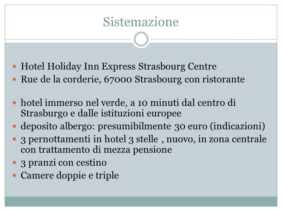 Sistemazione Hotel Holiday Inn Express Strasbourg Centre