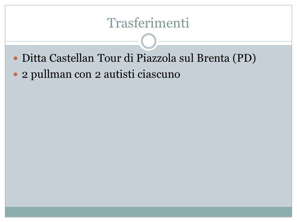 Trasferimenti Ditta Castellan Tour di Piazzola sul Brenta (PD)