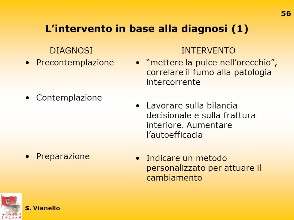 L'intervento in base alla diagnosi (1)