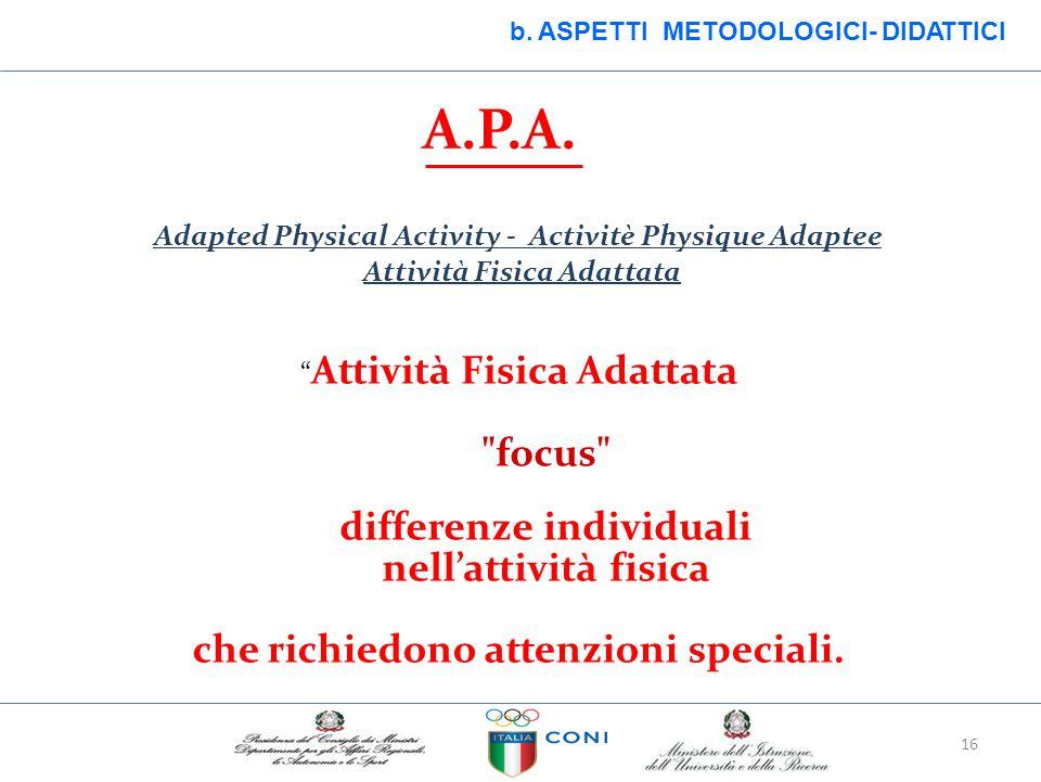differenze individuali nell'attività fisica
