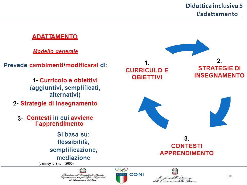 Didattica inclusiva 5 L'adattamento ADATTAMENTO 2.