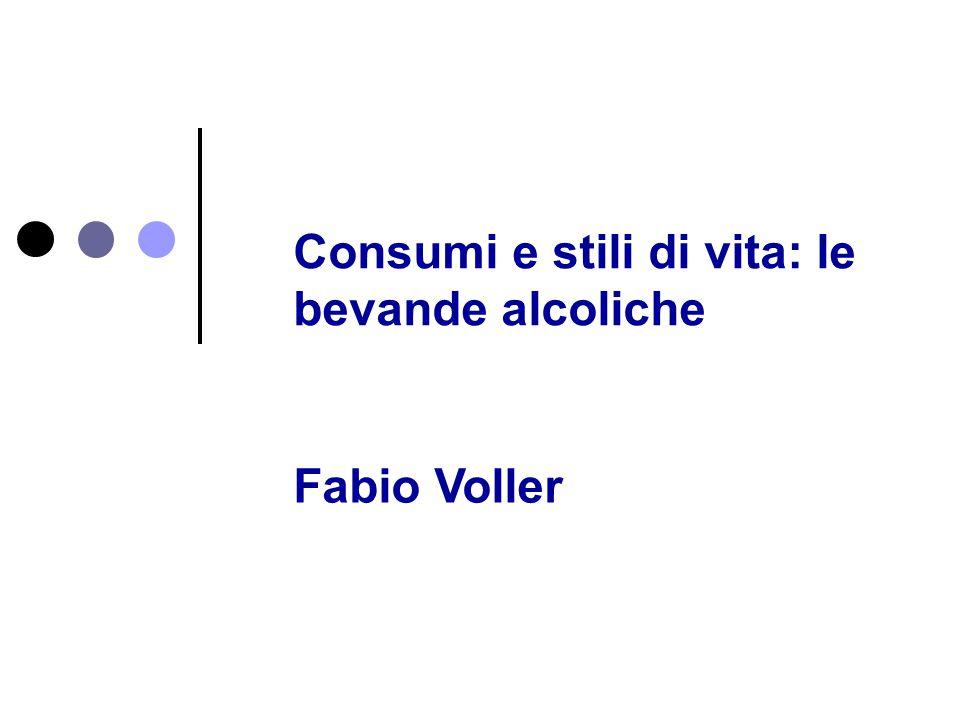 Consumi e stili di vita: le bevande alcoliche
