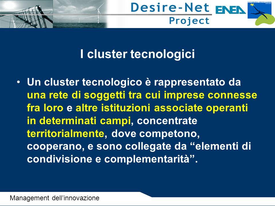 I cluster tecnologici