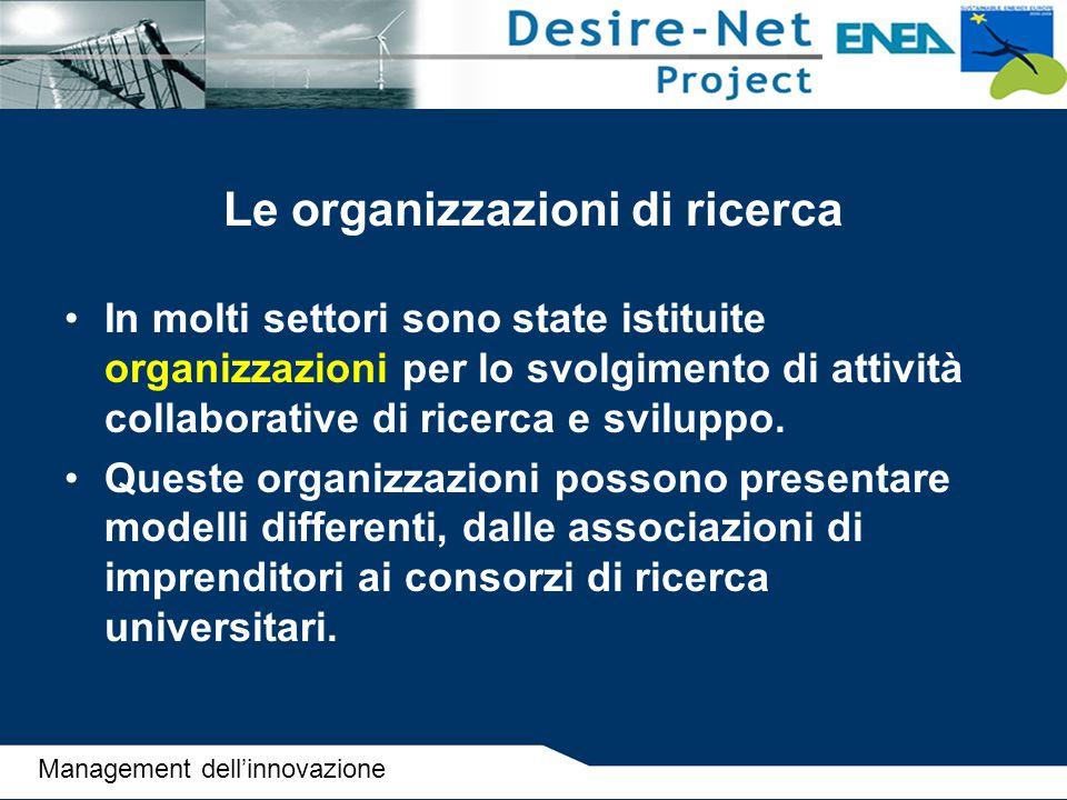 Le organizzazioni di ricerca