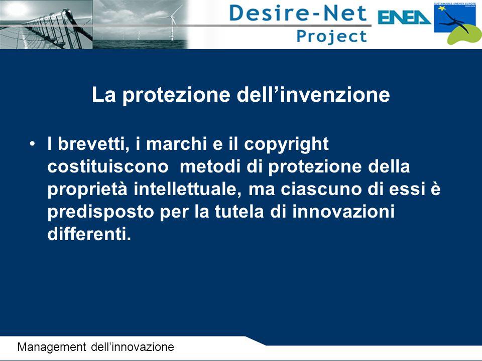 La protezione dell'invenzione