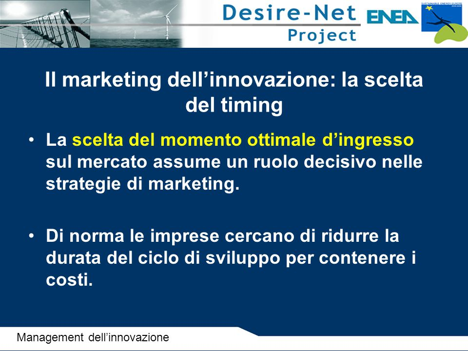 Il marketing dell'innovazione: la scelta del timing
