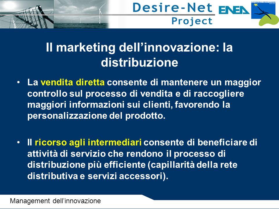 Il marketing dell'innovazione: la distribuzione