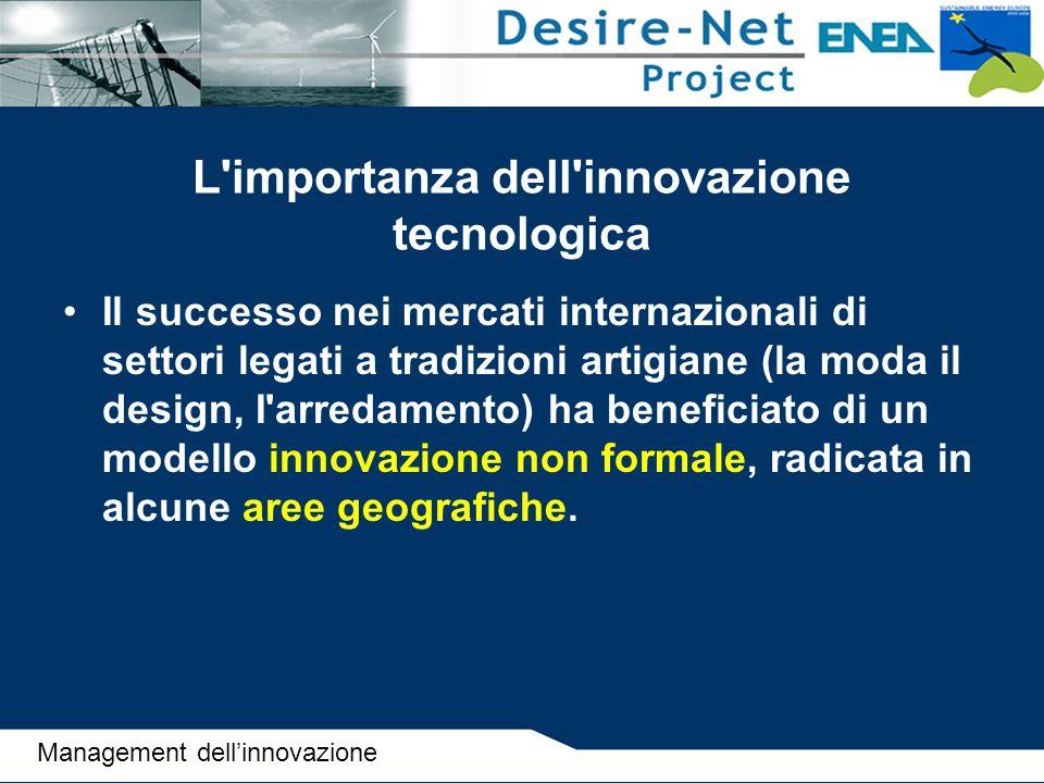 L importanza dell innovazione tecnologica