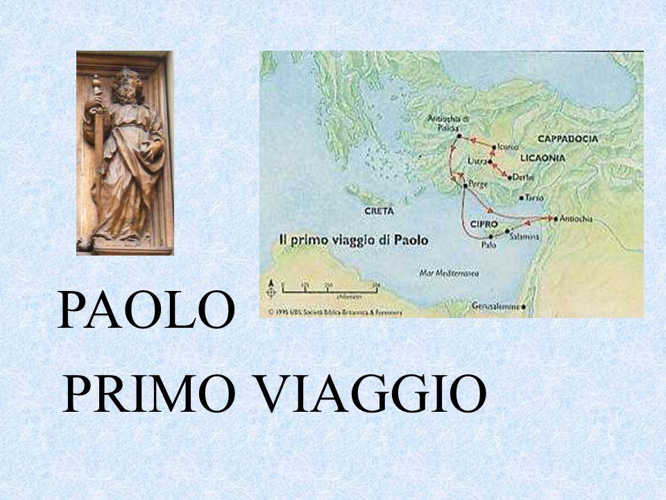 PAOLO PRIMO VIAGGIO