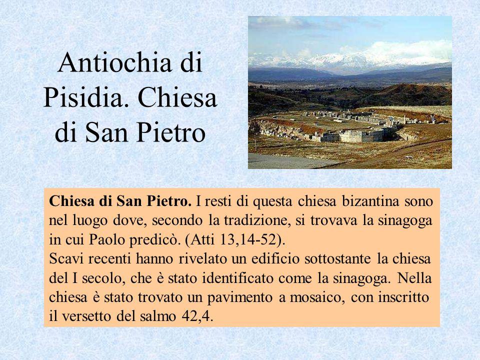 Antiochia di Pisidia. Chiesa di San Pietro