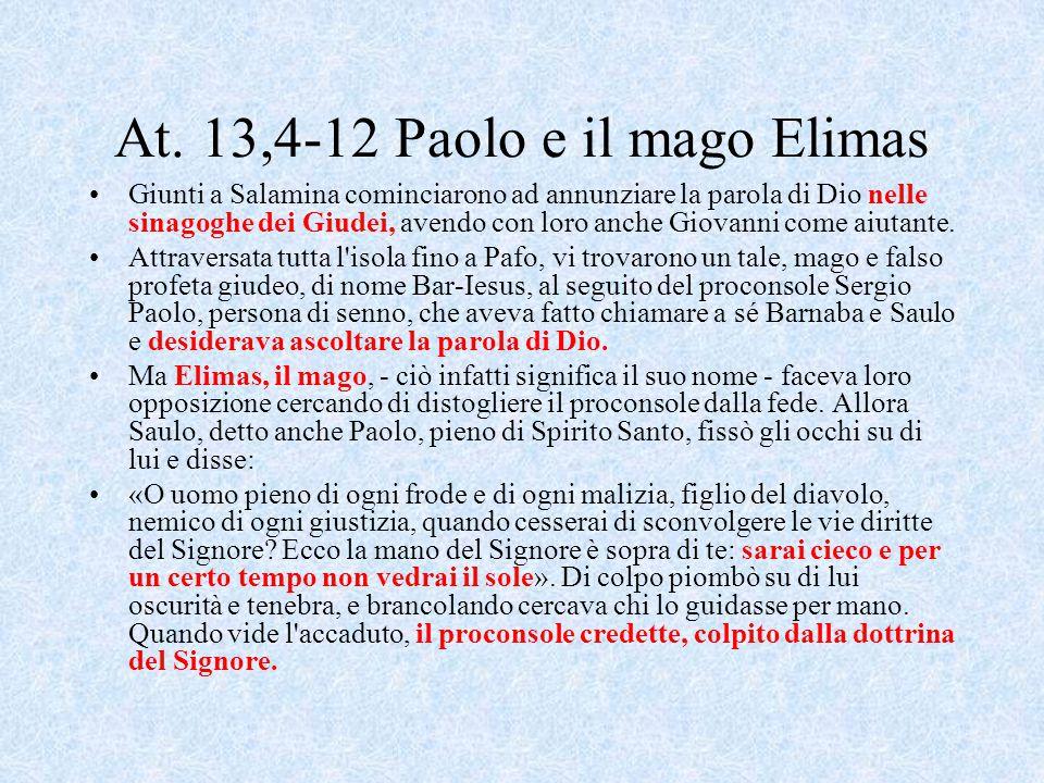 At. 13,4-12 Paolo e il mago Elimas