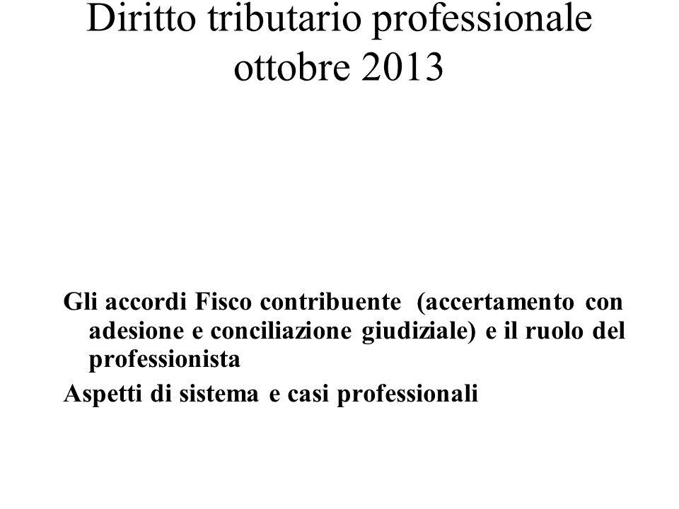 Diritto tributario professionale ottobre 2013