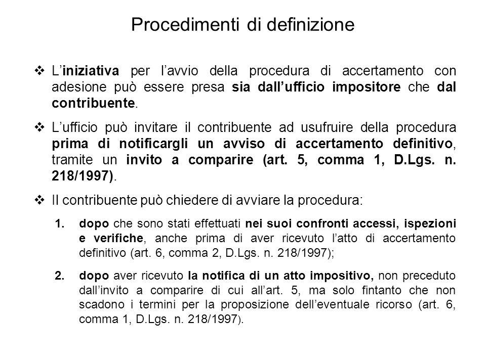 Procedimenti di definizione
