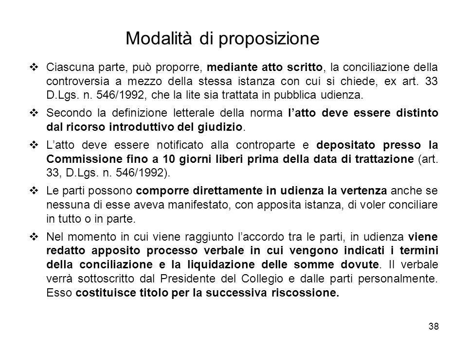 Modalità di proposizione