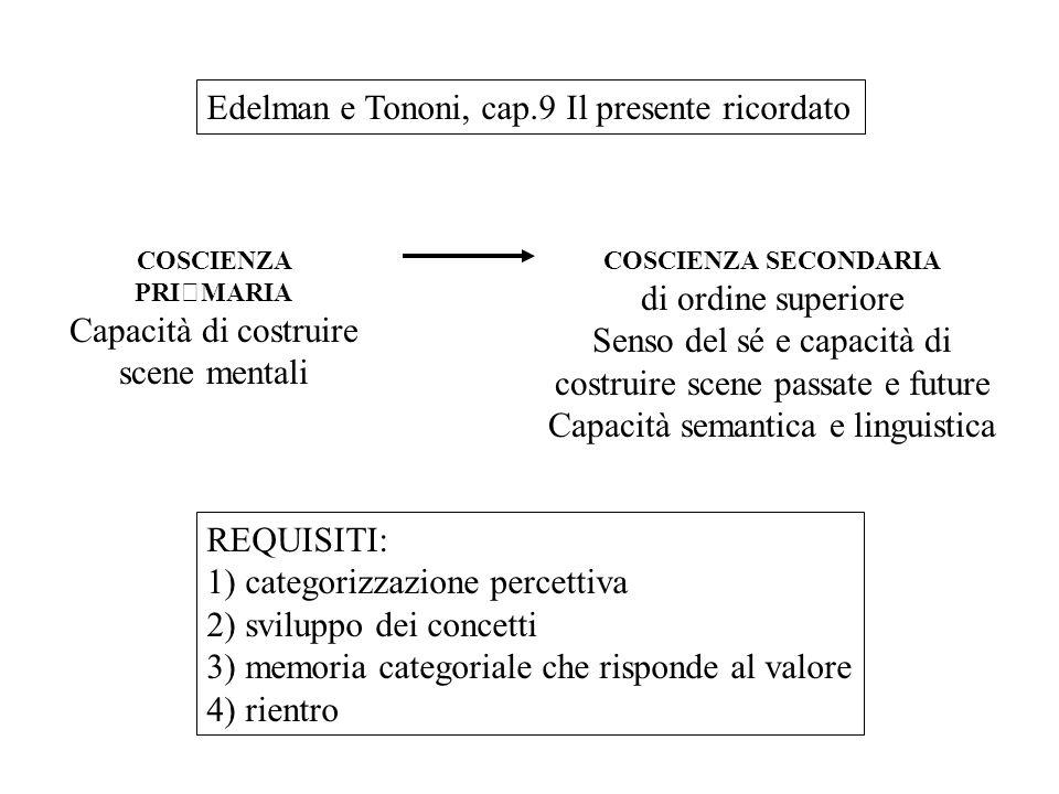 Edelman e Tononi, cap.9 Il presente ricordato