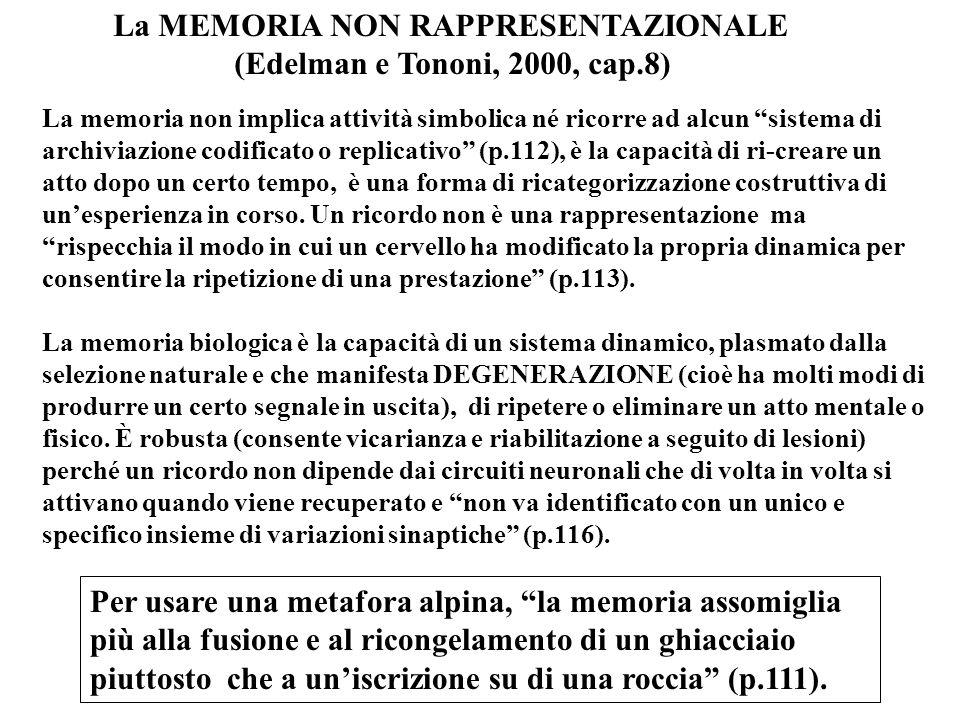 La MEMORIA NON RAPPRESENTAZIONALE