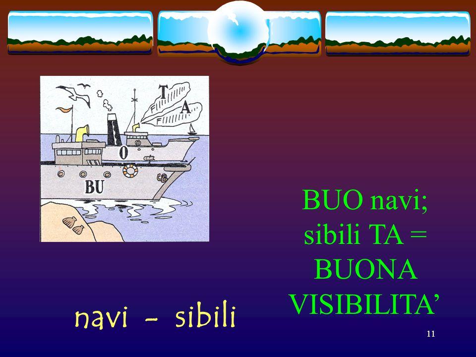 BUO navi; sibili TA = BUONA VISIBILITA' navi - sibili