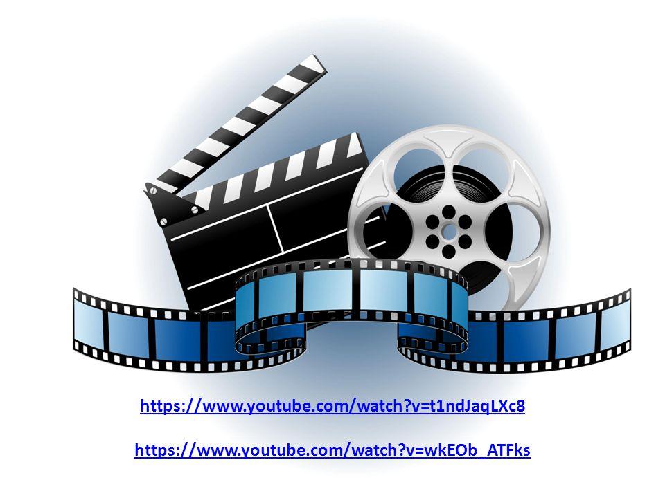 https://www.youtube.com/watch v=t1ndJaqLXc8 https://www.youtube.com/watch v=wkEOb_ATFks