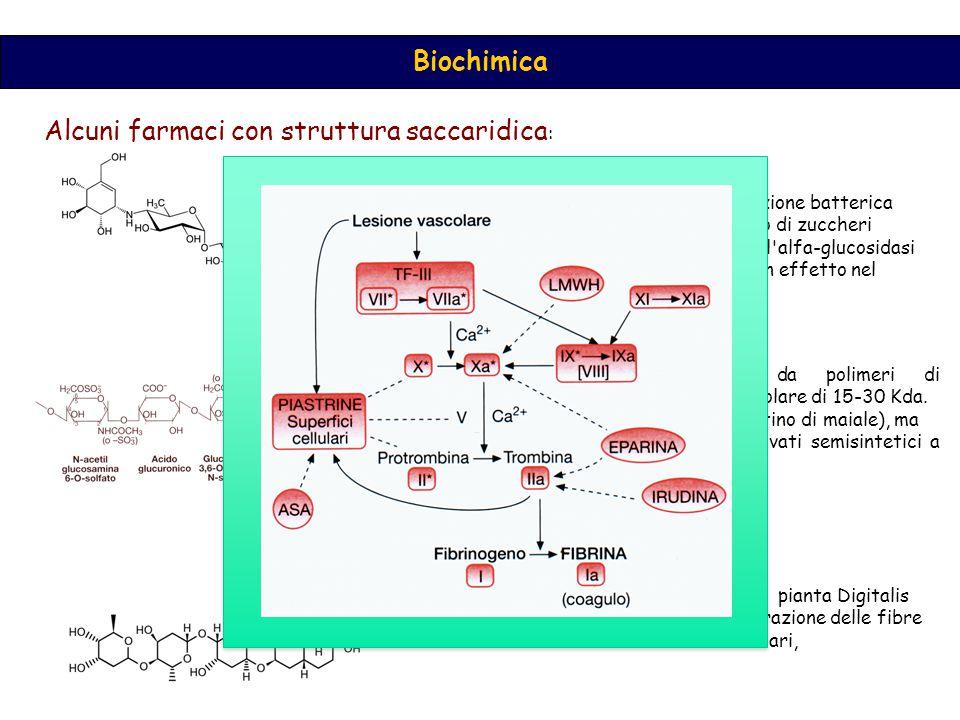 Alcuni farmaci con struttura saccaridica:
