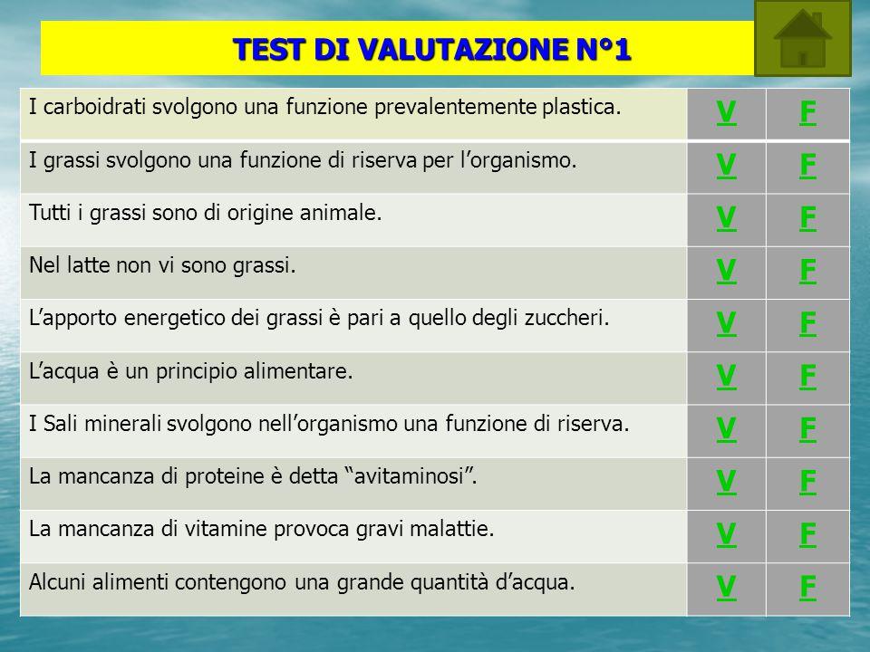 TEST DI VALUTAZIONE N°1 V F