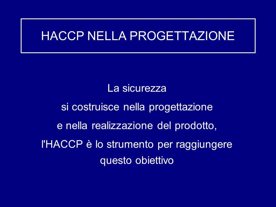 HACCP NELLA PROGETTAZIONE
