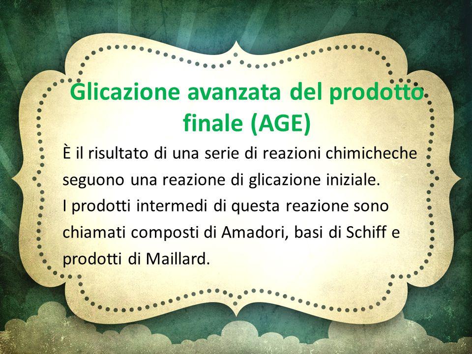 Glicazione avanzata del prodotto finale (AGE)