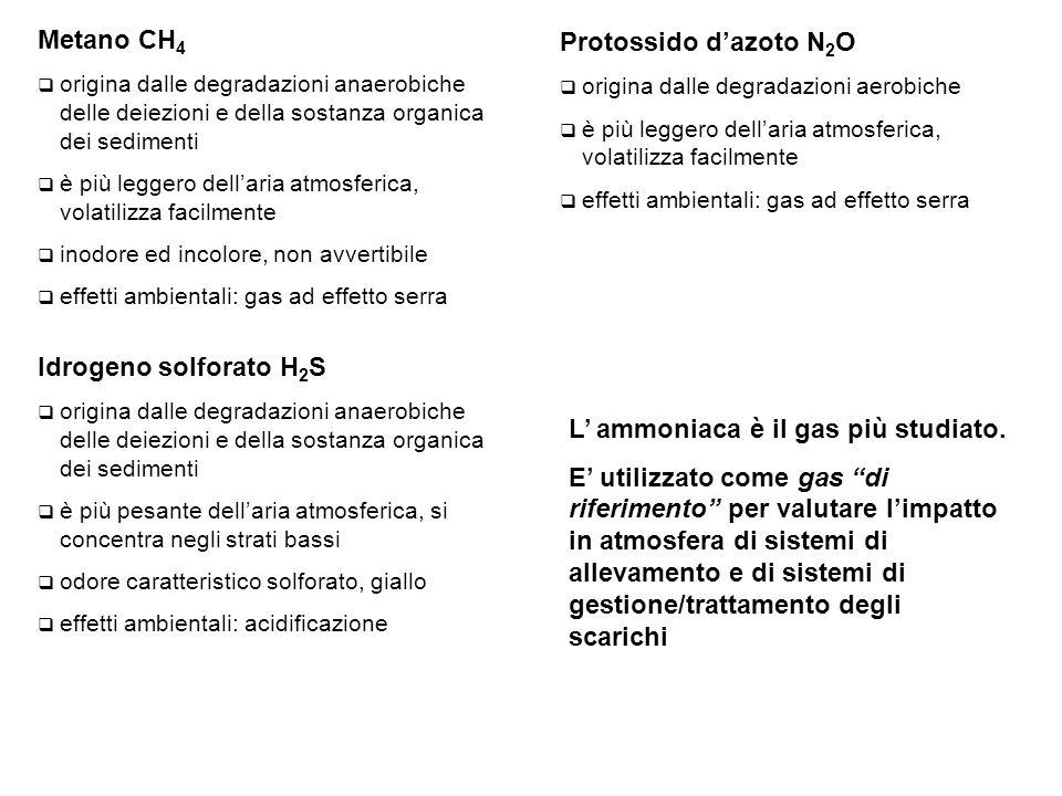 L' ammoniaca è il gas più studiato.