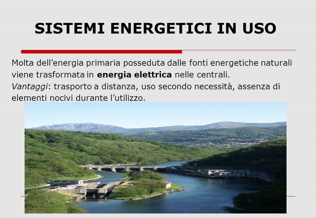 SISTEMI ENERGETICI IN USO