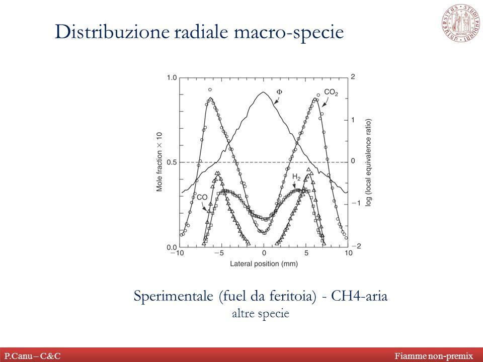 Sperimentale (fuel da feritoia) - CH4-aria altre specie